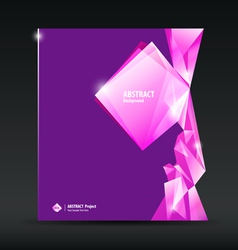 Abstract purple and pink diamond background vector image vector image