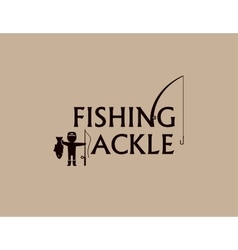 fishing tackle background vector image vector image