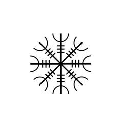 galdrastafir icelandic symbol intertwined runes vector image