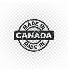 made in canada stamp on isolated background vector image vector image