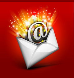 Magic email vector image