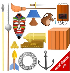 set of objects EPS10 vector image