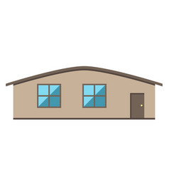 single-storey house isolated vector image vector image