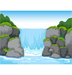 waterfall with landscape view background vector image vector image