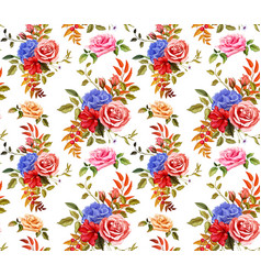 flower hibiscus rose seamless pattern vector image