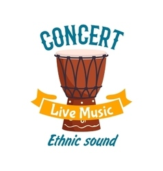 Live music concert isolated label emblem vector image
