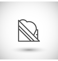 Snow guard line icon vector image vector image