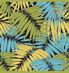 tropical branches seamless pattern for design vector image