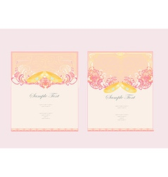 wedding Invitation card with rings set vector image vector image