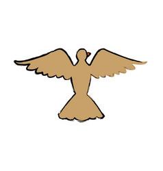 bird pigeon freedom peace wings open vector image vector image