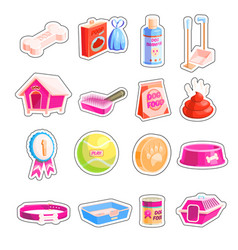 dog care supplies vector image