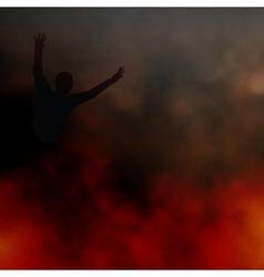 Fleeing the fire vector image