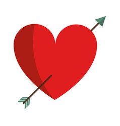heart with arrow love valentine vector image vector image