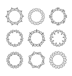Line design elements for frames and logo templates vector image vector image