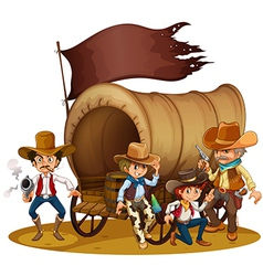 People from the wild West vector image vector image