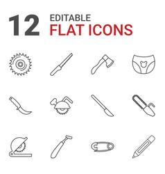 12 sharp icons vector