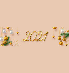 2021 happy new year banner vector image