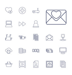 22 internet icons vector