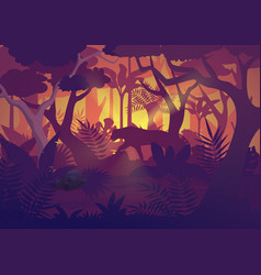 a high quality horizontal tropical rainforest vector image
