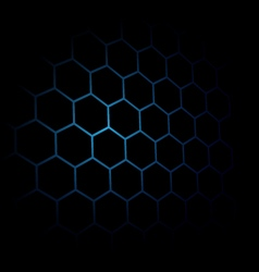 Abstract black Hexagon pattern background Blue vector image
