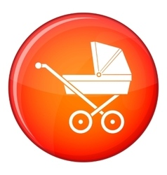 Baby carriage icon flat style vector