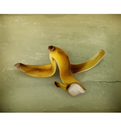 Banana peel old style vector