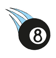 Billiard eight ball sport icon image vector