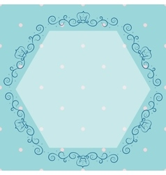 Blue vintage monogram vector