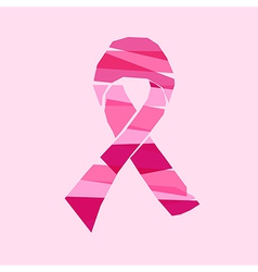 Breast cancer awareness ribbon with transparent vector
