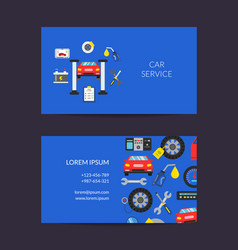 card template for auto service vector image