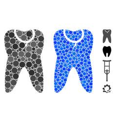 Caries tooth mosaic icon circles vector