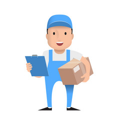 character delivery man vector image