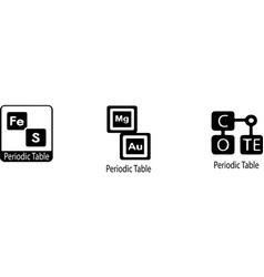 Chemical elements from periodic table icon isolate vector