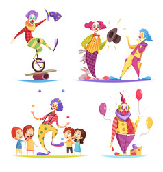 Clowns design concept vector