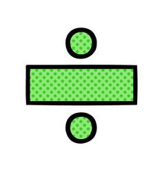 Comic book style cartoon division symbol vector