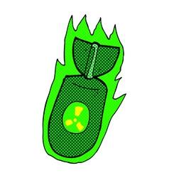 Comic cartoon atom bomb vector
