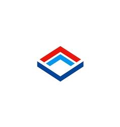 Cube construction technology business logo vector