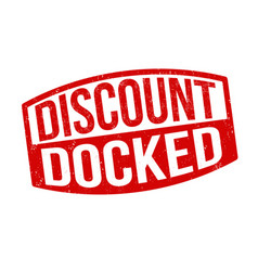 Discount docked sign or stamp vector