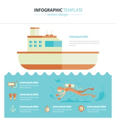 diving infographic vector image