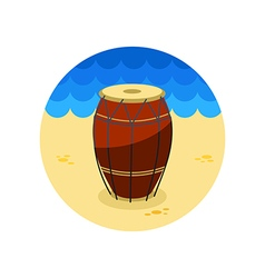 Drum icon Summer Vacation vector image