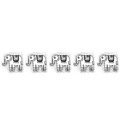 Ethnic tribalSeamless Pattern with elephants vector image