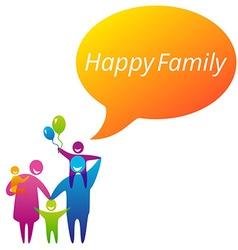 FamilyHappy vector image