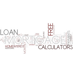 Five ways to benefit from free mortgage loan vector
