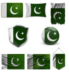 Flag pakistan vector