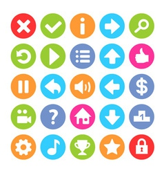 Flat game icon vector
