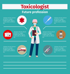 Future profession toxicologist infographic vector