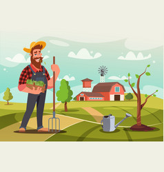 gardener at work flat vector image
