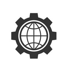 global setting black icon vector image
