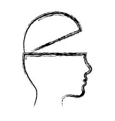 Head profile icon vector