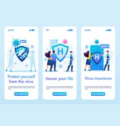 Health insurance mobile app vector